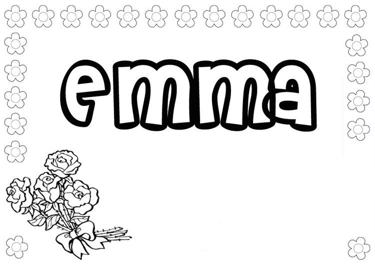Name Coloring Pages Emma