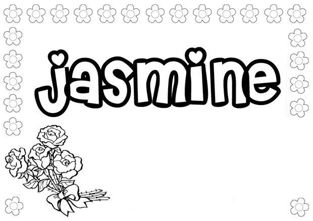 Name Coloring Pages Jasmine