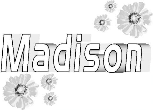 Name Coloring Pages Madison