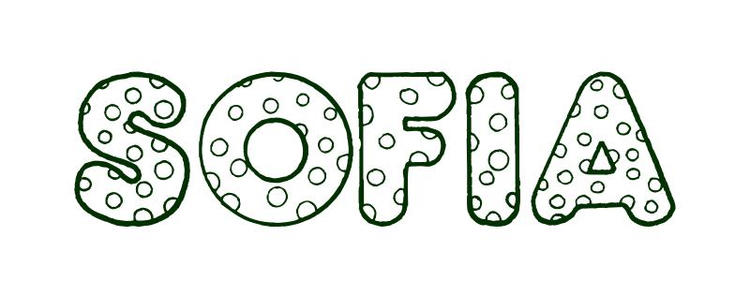 Name Coloring Pages Sofia