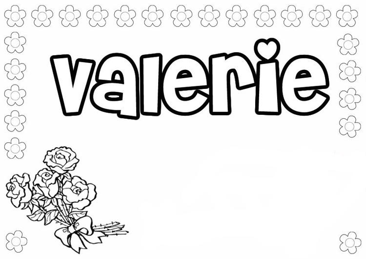 Name Coloring Pages Valerie
