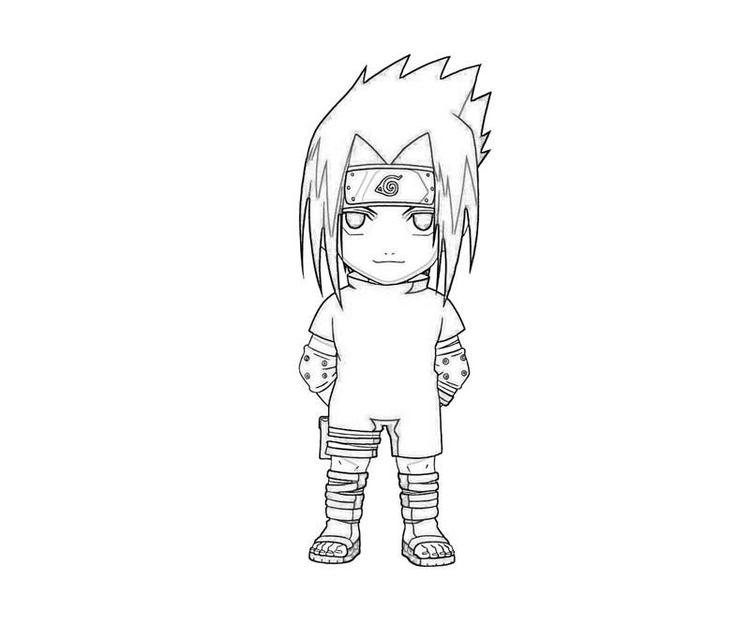 Naruto Coloring Pages Cute Sasuke