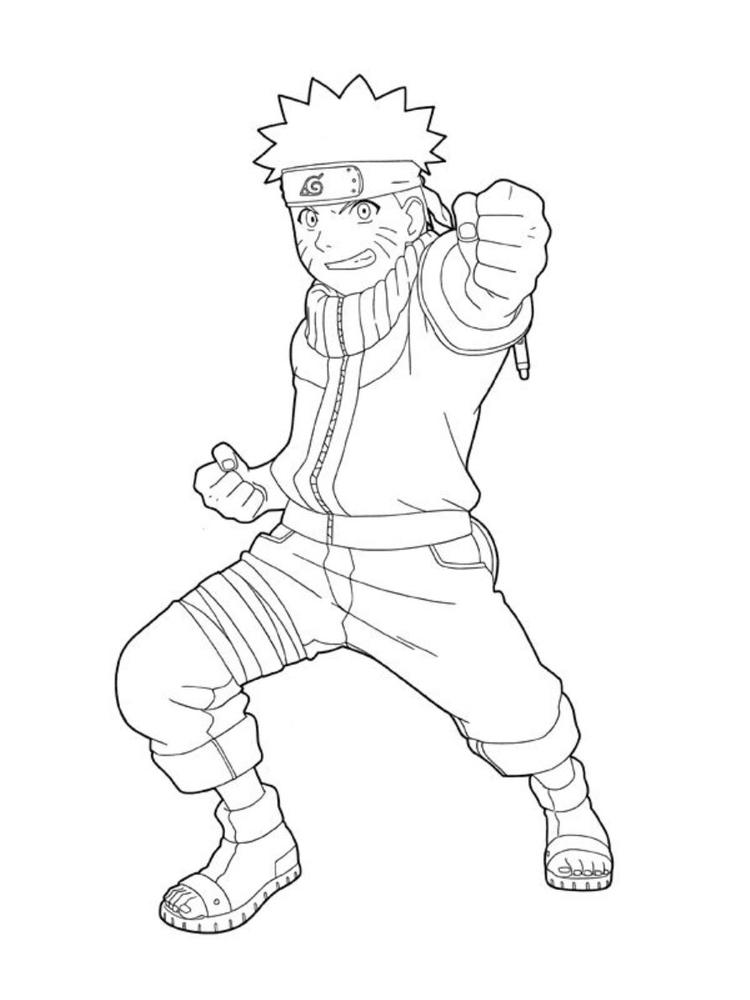 Naruto Coloring Pages For Kids