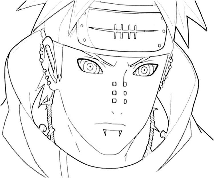 Naruto Coloring Pages Pain