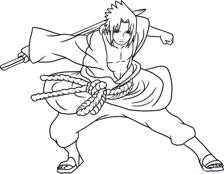 Naruto Coloring Pages Sasuke Shippuden