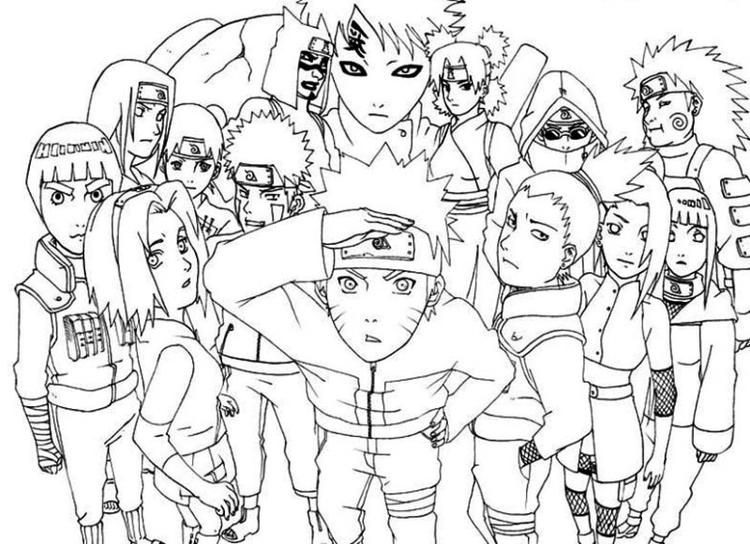 Naruto Shippuden Coloring Pages All Characters