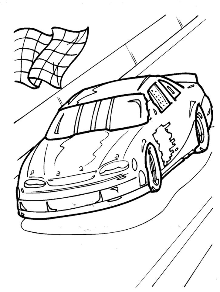 Nascar Coloring Pages Finish