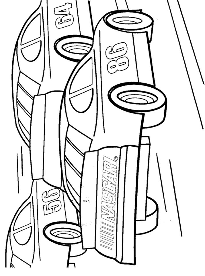 Nascar Coloring Pages Free Printable