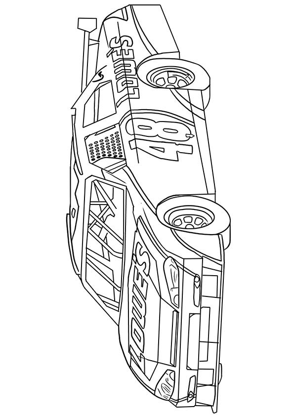Nascar Coloring Pages Number 48