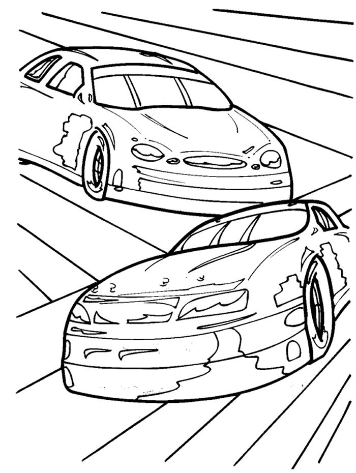 Nascar Coloring Pages Printable