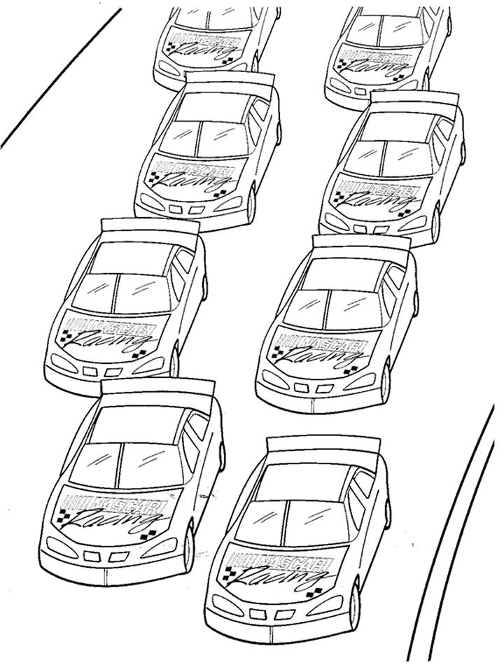 Nascar Coloring Pages Race Cars