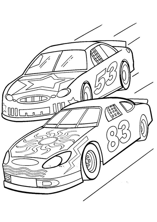 Nascar Coloring Pages To Print