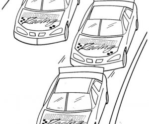 Nascar racing coloring pages