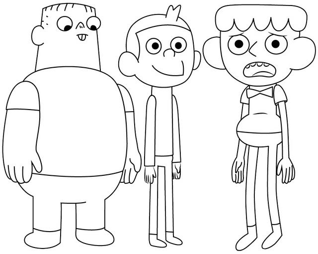 Nathan Dustin And Preehn From Clarence Coloring Page