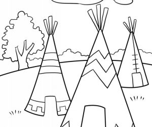 Native american teepee coloring pages