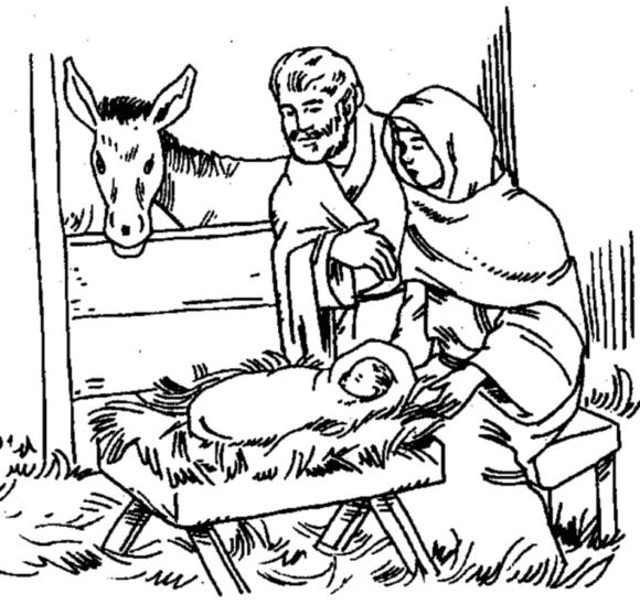 Nativity Coloring Pages Birth Of Jesus