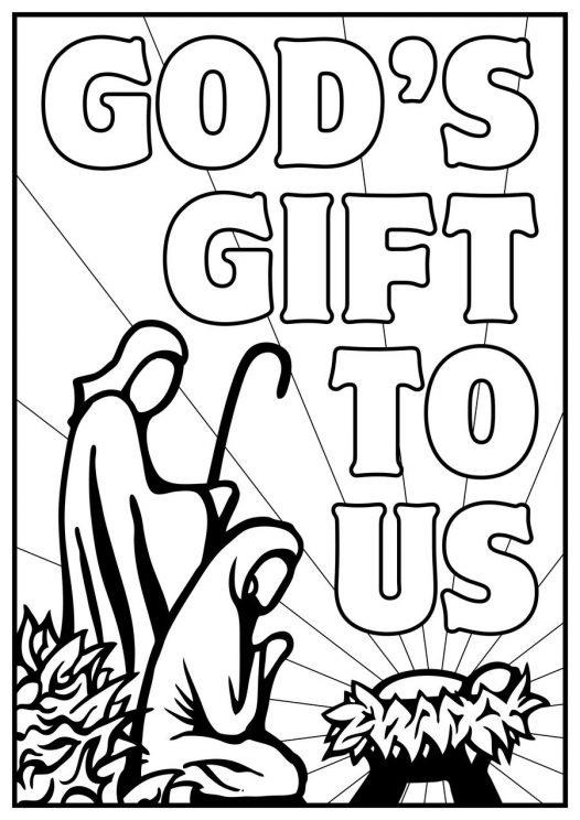 Nativity Coloring Pages Gods Gift To Us