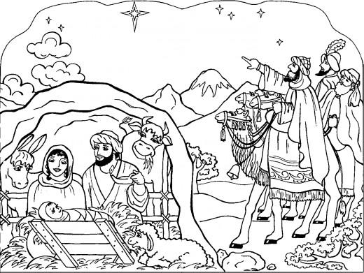 Nativity Coloring Pages Jesus And Goat