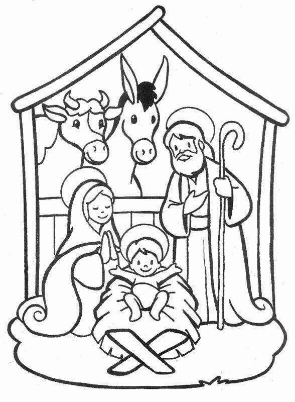 Nativity Coloring Pages Printable For Kids