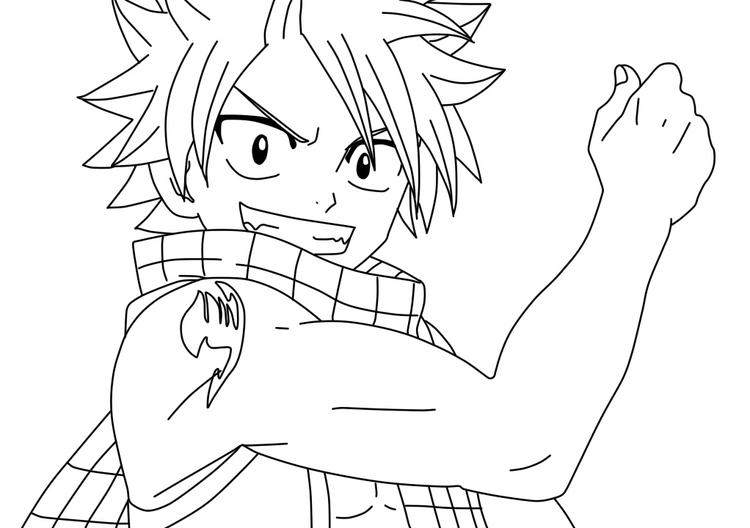 Natsu Fairy Tail Coloring Pages