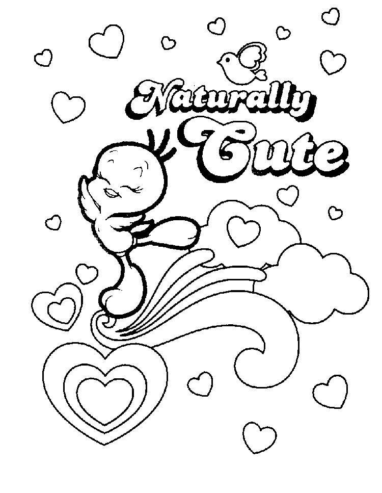 Naturally Cute Looney Tunes Tweety Bird Coloring Pages