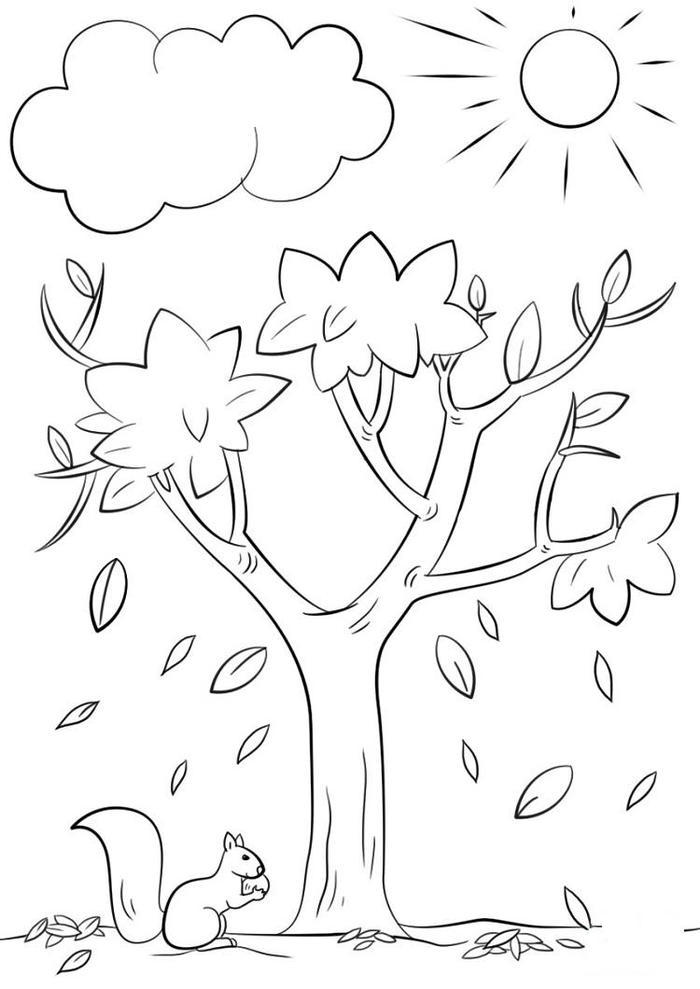 Nature Autumn Coloring Pages