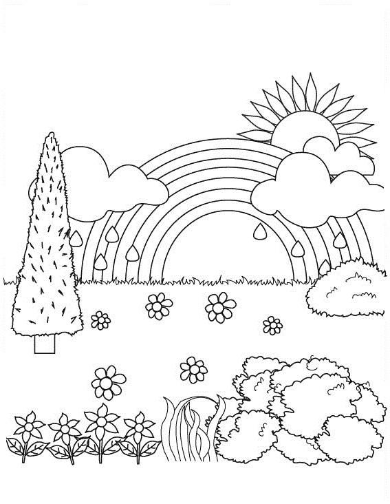 Nature Coloring Pages For Children