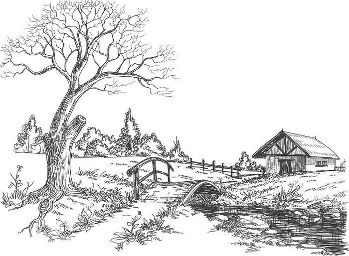Nature Countryside Coloring Pages