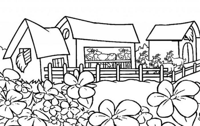Nature Environment Coloring Pages