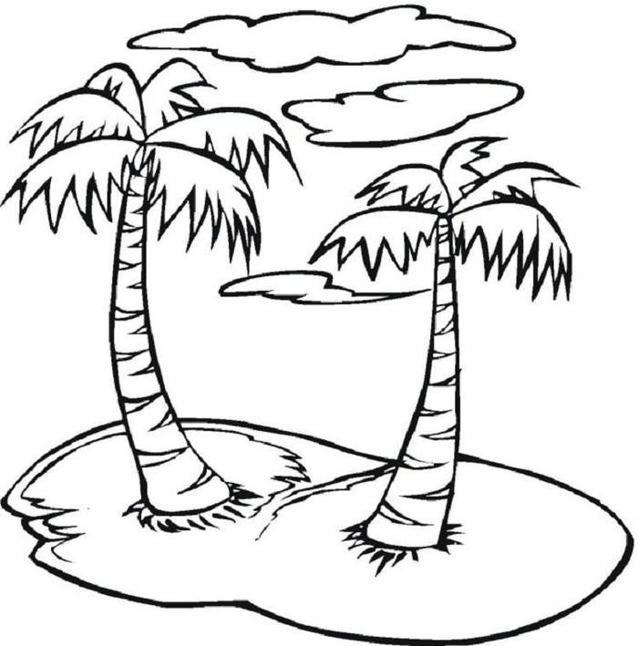 Nature Islands Coloring Pages