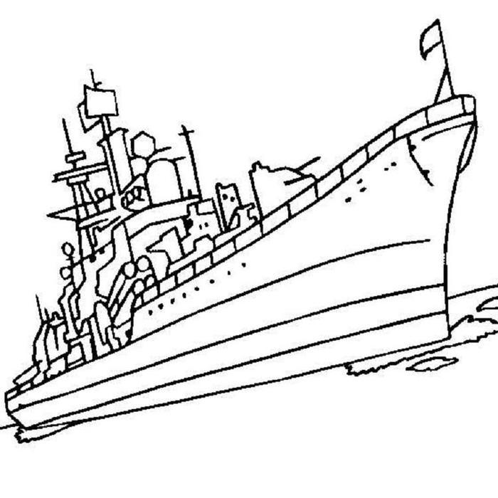 Naval Warship Coloring Pages