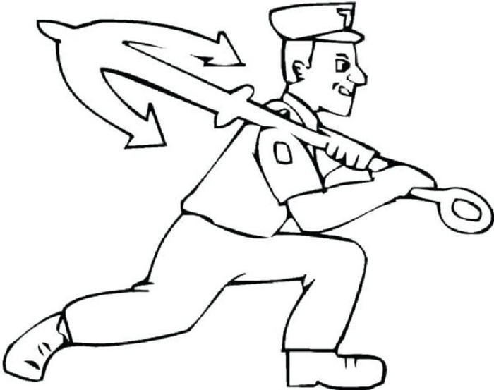 Navy Sailor Coloring Pages