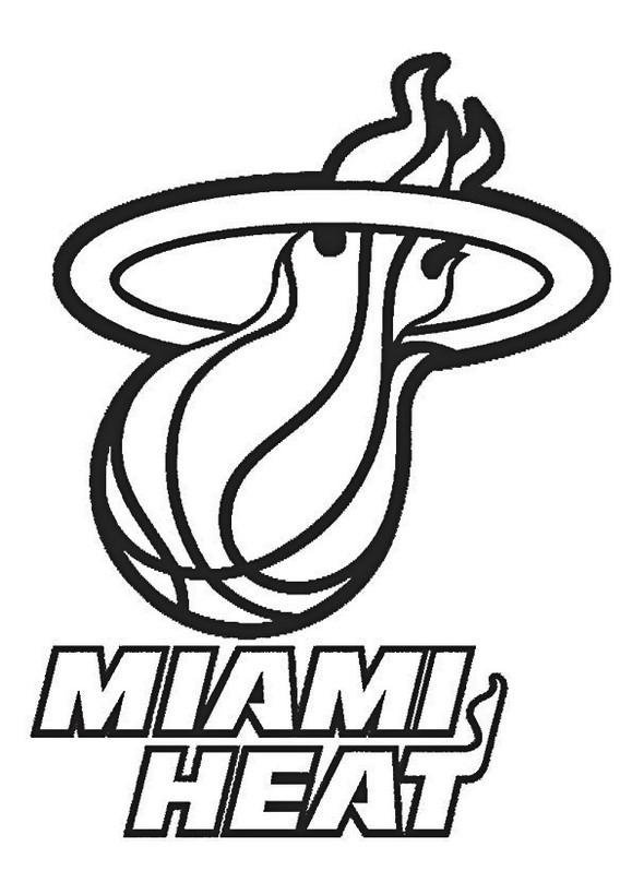 Nba Miami Heat Coloring Pages