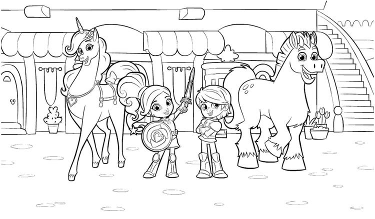 Nella The Princess Knight Drawing Pictures