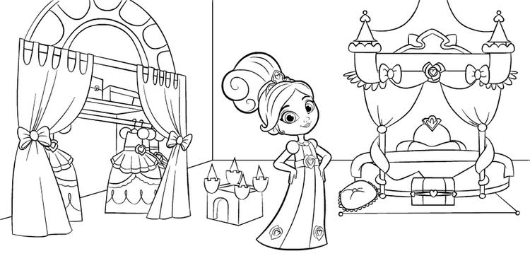 Nella The Princess Knight In Bedroom Coloring Pages