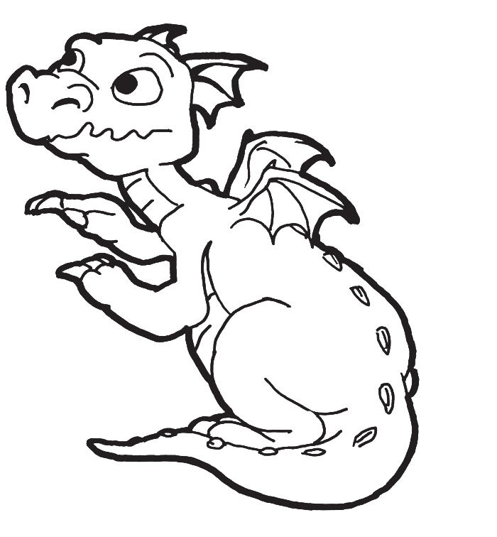 New Born Baby Dragon Coloring Pages