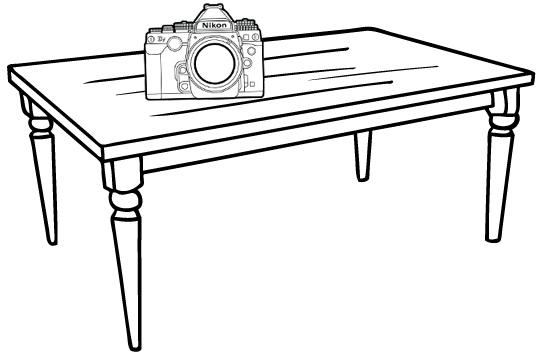 New Camera On The Table Coloring Page