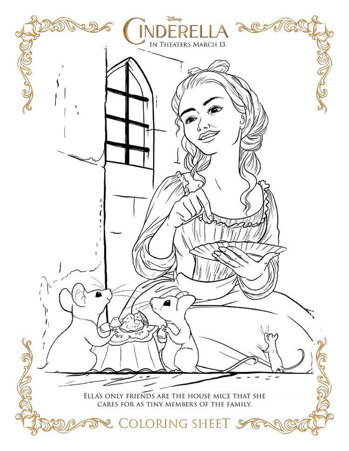 New Cinderella Coloring Pages