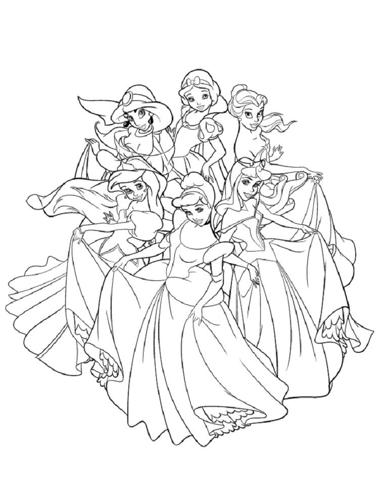 New Disney Princess Coloring Pages