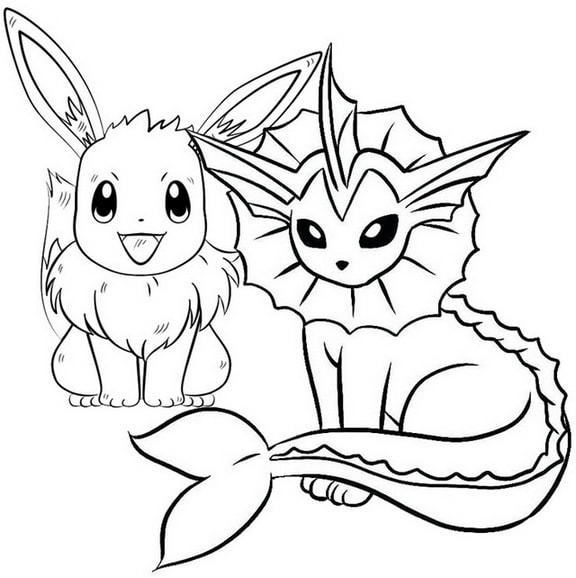 New Evolution Of Eevee Coloring Page For Pokemon Fans