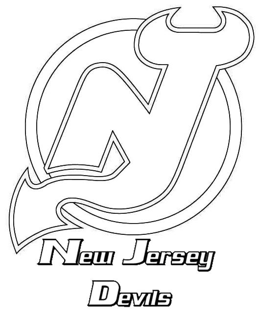 New Jersey Devils Ice Hockey Team Coloring Picture