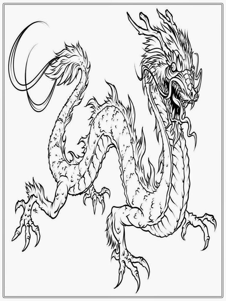 New Year Chinese Dragon Coloring Pages
