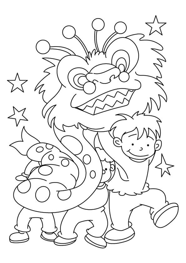 New Year Coloring Pages Chinese