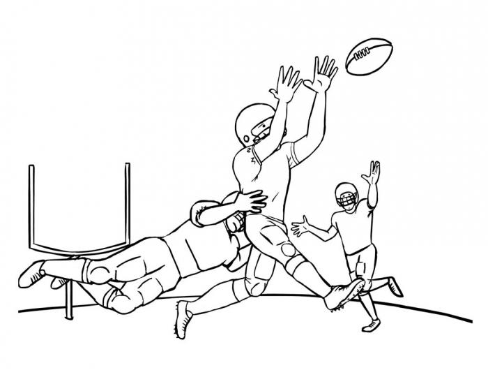 Nfl American Football Player Coloring Pages