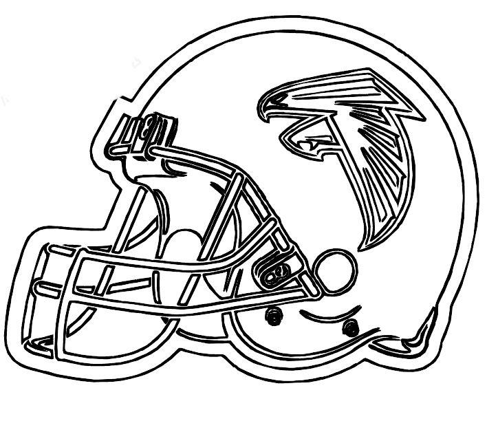 Nfl Coloring Pages Atlanta Falcons