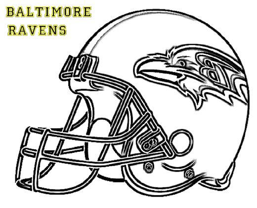 Nfl Coloring Pages Baltimore Ravens