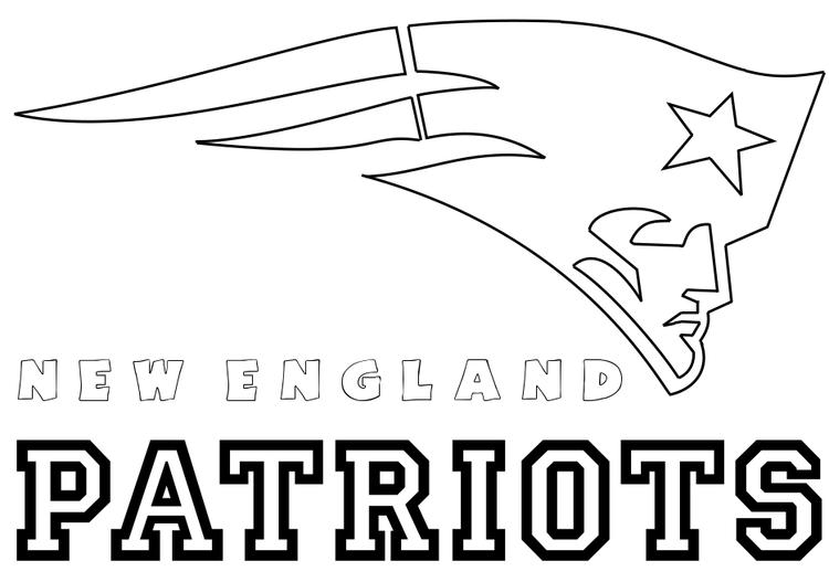 Nfl Coloring Pages New England Patriots Logo