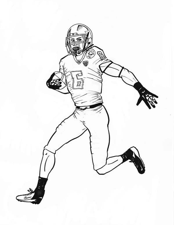 Nfl Football Player Coloring Pages Printable
