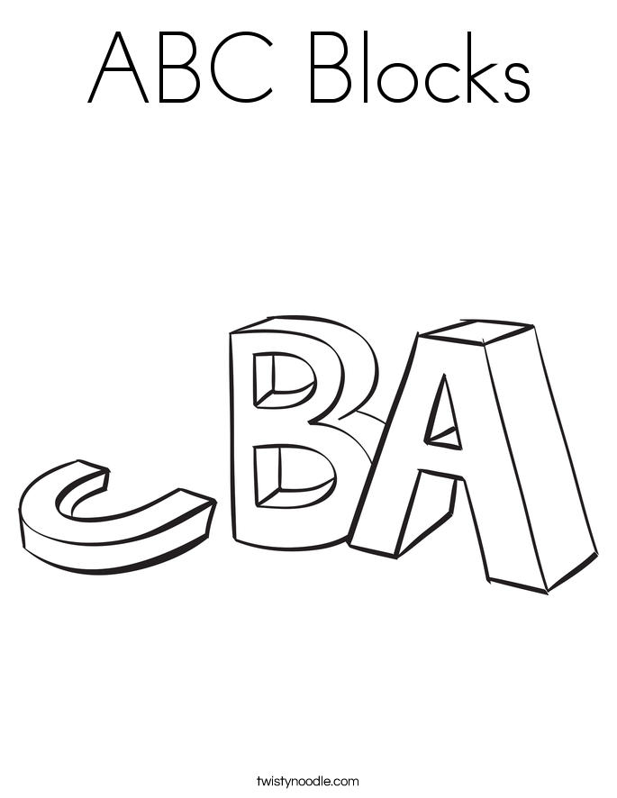 Nice Abc Blocks Coloring Pages