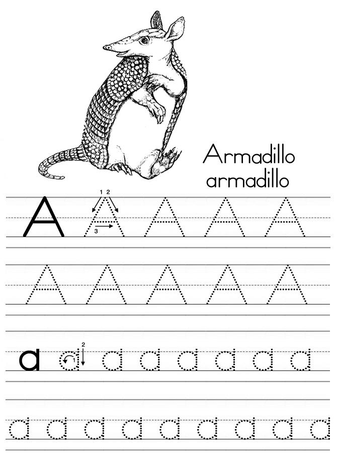Nice Abc Tracing Coloring Pages